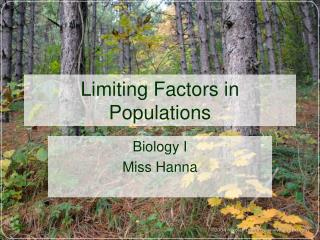 Limiting Factors in Populations