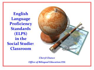 English Language Proficiency Standards ELPS   in the  Social Studies Classroom