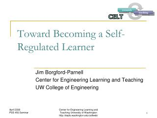 Toward Becoming a Self-Regulated Learner