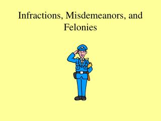 Infractions, Misdemeanors, and Felonies