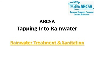 arcsa  tapping into rainwater  rainwater treatment  sanitation