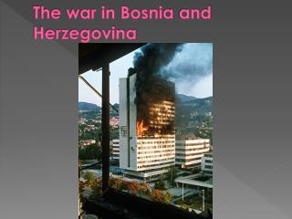 The war in Bosnia and Herzegovina