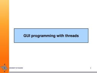 GUI programming with threads