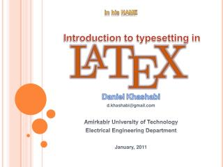 Introduction to typesetting in