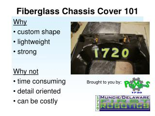 Fiberglass Chassis Cover 101