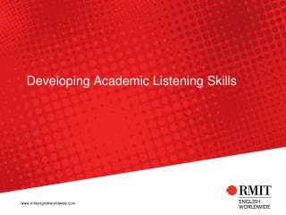 Developing Academic Listening Skills