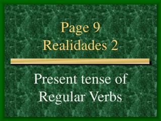 Page 9 Realidades 2