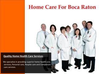 Home Care For Boca Raton