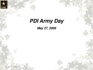 PDI Army Day May 27, 2009
