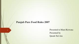 Food Safety Week 2007