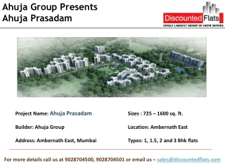 Ahuja Prasadam by Ahuja Group, Ambernath East
