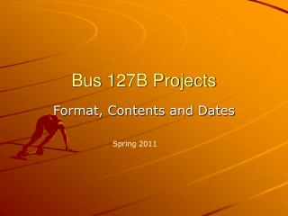 Bus 127B Projects