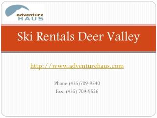 Ski Rentals Heber