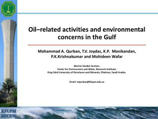 Oil related activities and environmental concerns in the Gulf