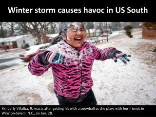Winter storm causes havoc in US South