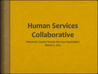 Human Services Collaborative
