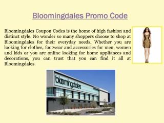 Bloomingdales Promo Code Free Shipping