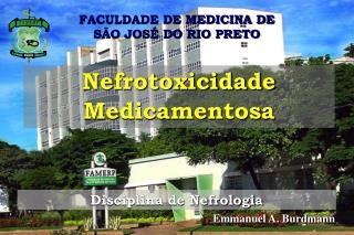FACULDADE DE MEDICINA DE  S O JOS  DO RIO PRETO