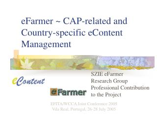 EFarmer  CAP-related and Country-specific eContent Management