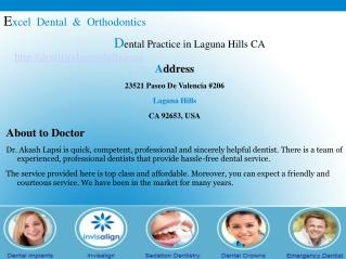 Dentistry Laguna Hills CA � Dr. Akash Lapsi