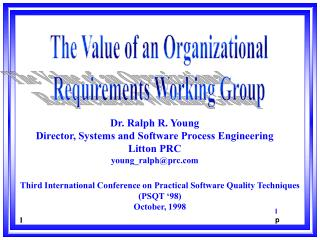 The Value of an Organizational Requirements Working Group
