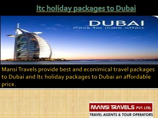 ltc holiday packages to Dubai