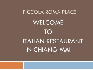Ristoranti Italiani a Chiang Mai
