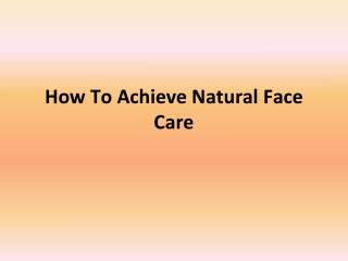 Alaffia Natural Face Care
