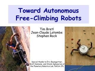 Toward Autonomous Free-Climbing Robots