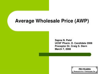 average wholesale price awp