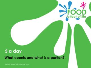 What counts and what is a portion