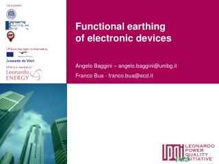 Functional earthing of electronic devices