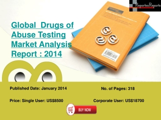 Global  Drugs of Abuse Testing Market Analysis Report : 2014