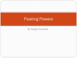 Floating Flowers by Simply Essentials