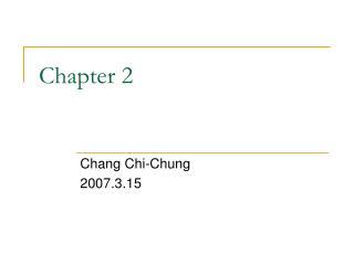 Chang Chi-Chung 2007.3.15