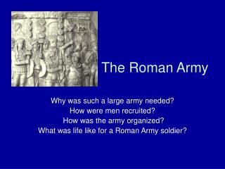 The Roman Army