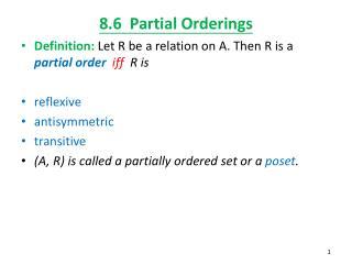 8.6  Partial Orderings