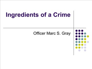 ingredients of a crime
