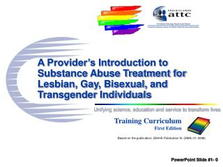 A Provider s Introduction to Substance Abuse Treatment for Lesbian, Gay, Bisexual, and Transgender Individuals