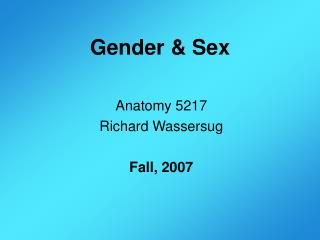 Gender  Sex