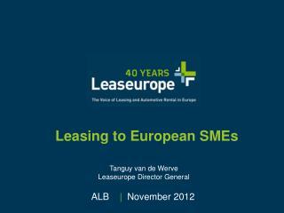 Leasing to European SMEs