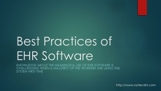 Best Practices of EHR Software