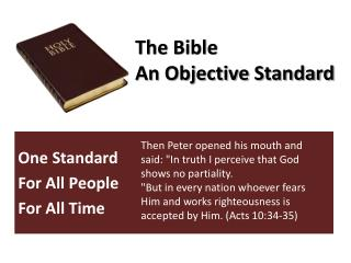 The Bible An Objective Standard