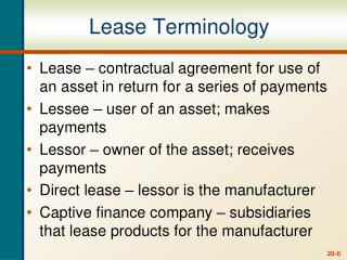 Lease Terminology