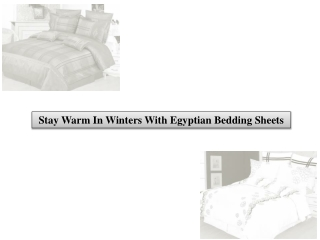 Stay warm in winters with Egyptian bedding Sheets