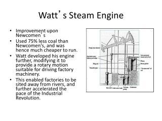 Watt s Steam Engine