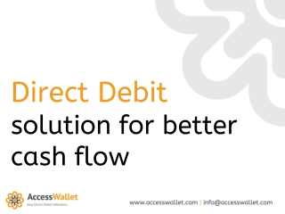 Direct Debit solution for better cash flow