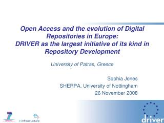 Open Access and the evolution of Digital Repositories in Europe:   DRIVER as the largest initiative of its kind in Repos