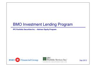 BMO Investment Lending Program