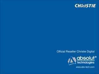 Official Reseller Christie Digital